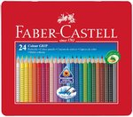 24 Buntstifte COLOUR GRIP von Faber-Castell in Metalletui